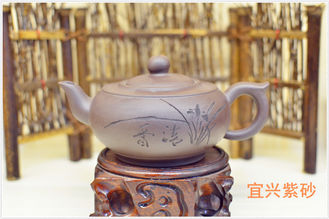 Yixing Zisha Purple Clay Teapot , Authentic Yixing Teapot Set Volume 250ML